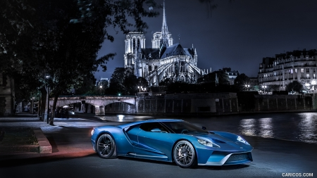 2017 Ford GT and a Beautiful Church at Night