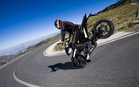 ktm duke 690 - motorcycle, duke, ktm, road, grass