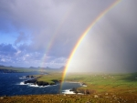 Rainbow Over Ballyferriter Bay,Ireland