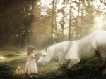 Little Snow White meeting the White Horse