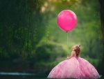 Little princess with balloon