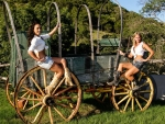 Cowgirls and Wagon