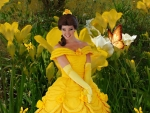 Model Dressed as Disney Princess
