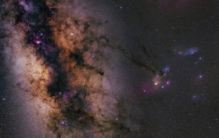 Saturn in the Milky Way - cool, space, stars, galaxies, planet, fun