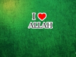 i love Allah wallpaper