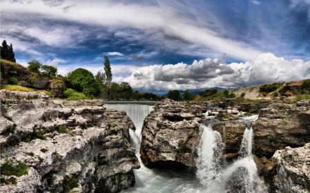 River - River, landscape, waterfall, nature, water