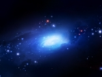 Blue Galaxy of Bright Stars