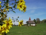 Chapel and Sunflowers