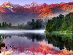 Lake Matheson,New Zealand