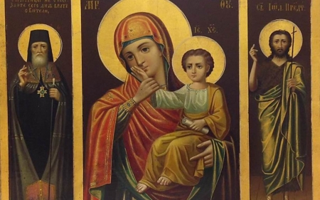 Mary, Jesus and Saints - Virgin, icon, Saints, Mary, Child, Jesus