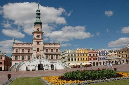 Zamoshch, Poland - Poland, town, tower, square, houses