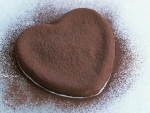 love heart chocolate cookie