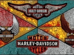 Harley stained glass Logos