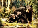 Mama Bear and Cubs F