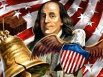 Ben Franklin US Independence Day