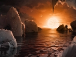 Artistic Impression The Surface of TRAPPIST 1f