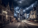 Belgium by night