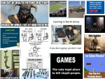 Video game joke collage