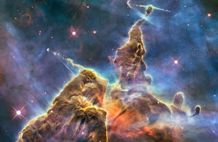 Mountains of Dust in the Carina Nebula - cool, space, nebula, stars, galaxies, fun