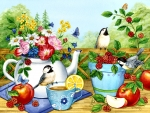 Summer Tea Time - Birds F