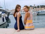 Katya Clover and Ariel on the Dock