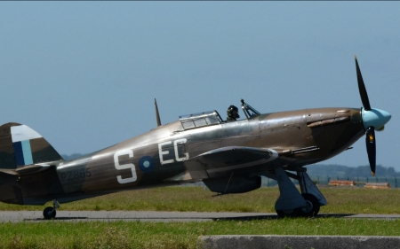 WW2 Hurricane Fighter - hurricane, military, aircraft, ww2