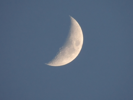 Evening Moon In July - Moon, Space, Evening Moon, Sky, Photography