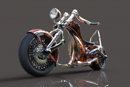 custom chopper - bike, custom, chopper, motocycle