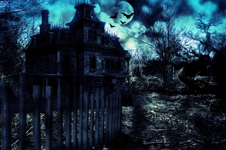 House of Ruin - House, Ruin, Haunted, Spooky, Halloween, Horror, Photoshop, Bats, Darkness, Twilight