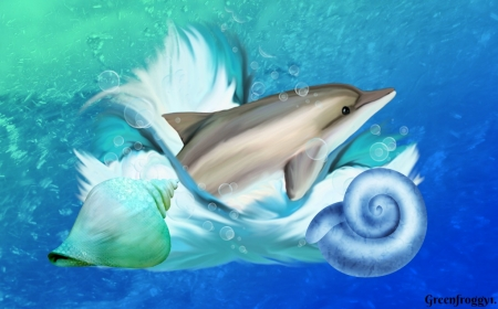 DOLPHIN WITH SHELLS