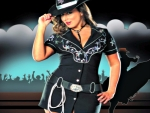 Cowgirl In Black