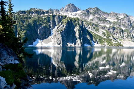 alpine lake - lake, cool, forest, mountain, nature, fun