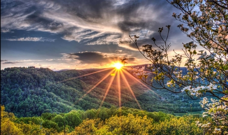 Blue Ridge Mountains - cool, Blue Ridge Mountains, nature, sunset, fun