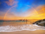 Rainbow in Ocean Horizon