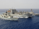 WORLD OF WARSHIPS USNS Cesar Chavez, HMCS Toronto & USS Stockdale Replenishment at sea (RES)