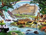 Noah's ark after the flood