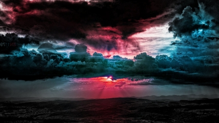 Beautiful Clouds - colorful, clouds, sunset, sky