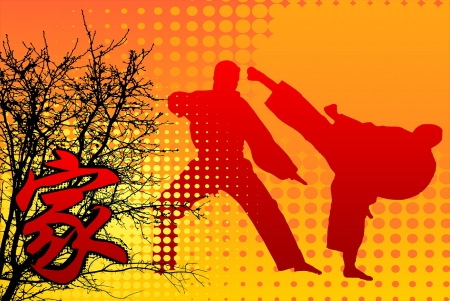 martial arts - martial, tree, arts, caligraphy