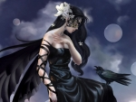 Dark Angel And Her Raven