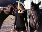 Horse Loving Cowgirl. .