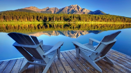 Best seat in the house - Patricia Lake, Jasper National Park, Alberta, Canada - Jasper National Park, Seats, Alberta, Patricia Lake, Canada
