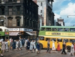 Corner of Hope Street and Sauchiehall Street - Glasgow, Scotland (June 1961)