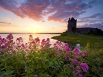 Sunset Over Dunguaire Castle, Kinvara County, Galway, Ireland