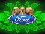 Ford Skulls and Leafs abstract New
