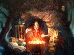 witch brewing up some poison