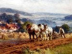Plowing the Field - Horses
