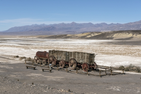 Borax Wagons in Death Valley - Nature, Deserts, Death Valley, Historic Wagons