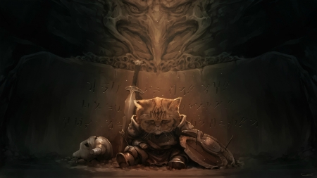 Khajiit - weapons, skyrim, games, cat