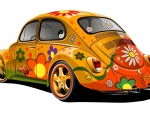 Hippie Bug and Flower Power