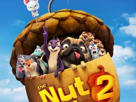 The nut job 2 Nutty by nature - poster, movie, the nut job, animation, nutty by nature, funny